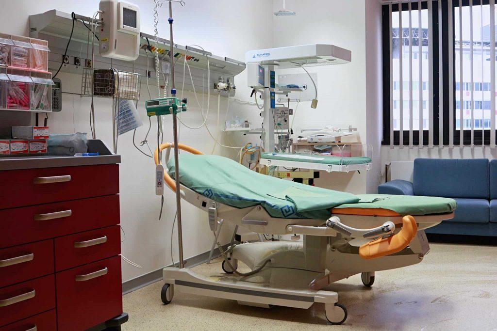 Роды в клинике Мотол в Праге
