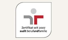 Zertifecat seit 2007 audit berufundfamilie