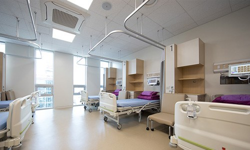 hospital room in asan medical center south korea