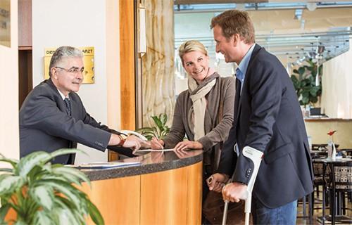 Вежливый персонал и уважительное отношение к пациентам в клинике Рудольфинерхаус