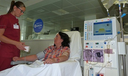 hemodialysis departemtn of quironsalud marbella spain