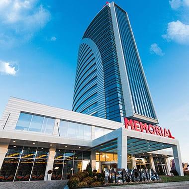 Здание клиники Мемориал Анкара в Турции 25 этажей