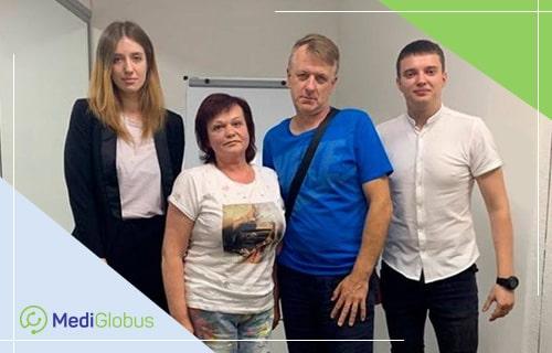 пациентка валентина и специалисты компании медиглобус